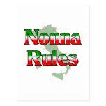 Reglas de Nonna (abuela italiana) Postal