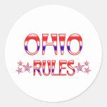 Reglas de Ohio Pegatina Redonda