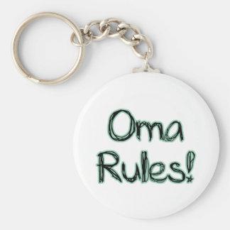 ¡Reglas de Oma! Llavero Personalizado