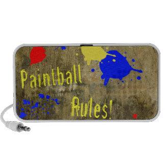 Reglas de Paintball en una pared del Grunge Mini Altavoces