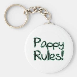 ¡Reglas de Pappy! Llavero