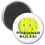 ¡Reglas de Pickleball! Con el texto amarillo del n Imán De Nevera