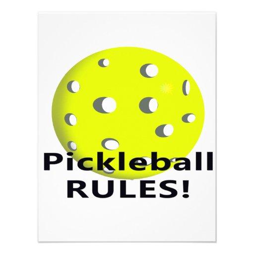¡Reglas de Pickleball! Con el texto amarillo del n Comunicado