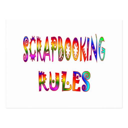Reglas de Scrapbooking Postales