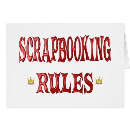 Reglas de Scrapbooking Tarjeta De Felicitación