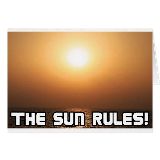 ¡Reglas de The Sun! 1 Tarjeta De Felicitación
