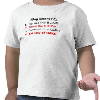 Reglas de una camiseta del portador de anillo