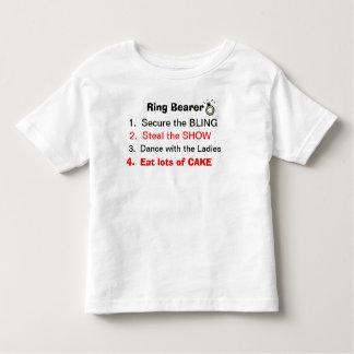 Reglas de una camiseta del portador de anillo playera
