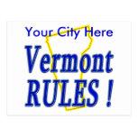 ¡Reglas de Vermont! Postales