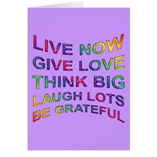 Reglas de vida tarjeta de felicitación