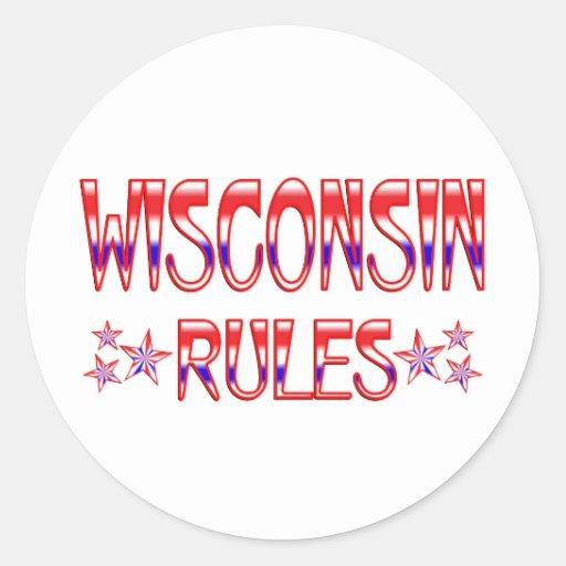 Reglas de Wisconsin Pegatinas Redondas