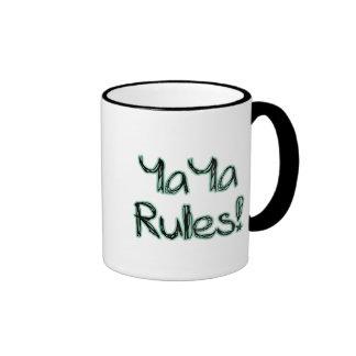 ¡Reglas de YaYa! Tazas De Café