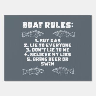 Reglas del barco letrero