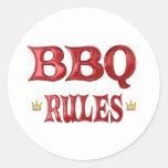 Reglas del Bbq Etiqueta Redonda