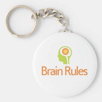 ¡Reglas del cerebro! Llavero principal verde de la
