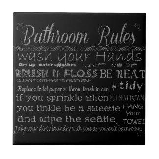 Reglas del cuarto de baño azulejos ceramicos