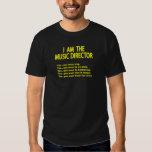 Reglas del director musical camisas
