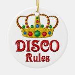Reglas del disco ornamento para arbol de navidad