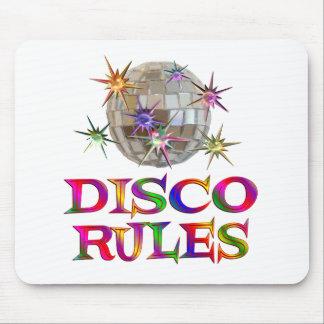 Reglas del disco tapete de ratón