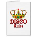 Reglas del disco tarjetas