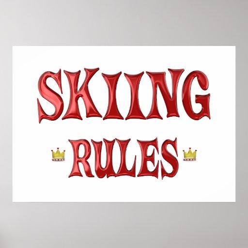Reglas del esquí impresiones