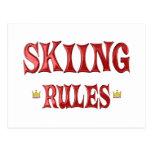 Reglas del esquí postal
