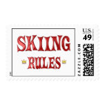 Reglas del esquí sello