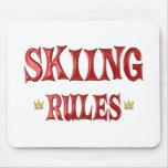 Reglas del esquí tapetes de ratón