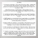 Reglas del gimnasio póster