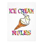 Reglas del helado anuncios