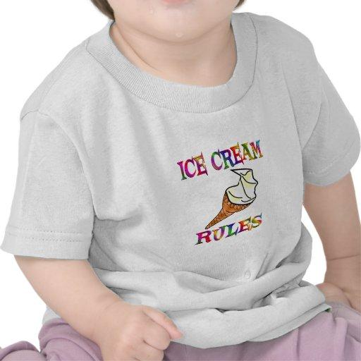 Reglas del helado camiseta