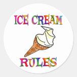 Reglas del helado pegatina