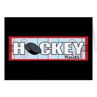 Reglas del hockey tarjeta de felicitación