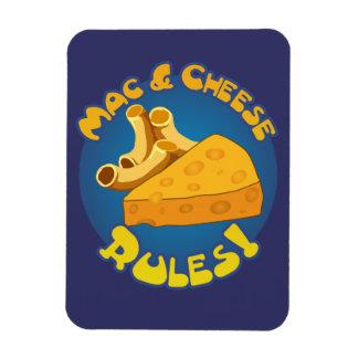 Reglas del mac y del queso iman flexible