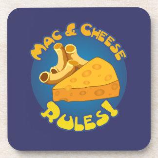 Reglas del mac y del queso posavasos