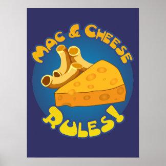Reglas del mac y del queso póster