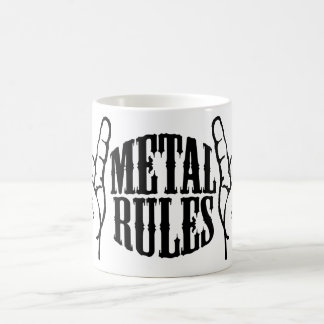 Reglas del metal Morphing la taza
