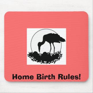 ¡Reglas del nacimiento casero! Cojín de ratón Tapetes De Raton