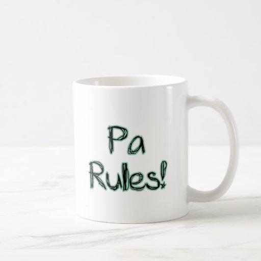 ¡Reglas del PA! Tazas
