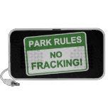 Reglas del parque - ningún Fracking iPod Altavoz