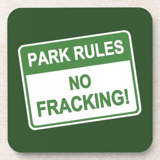 Reglas del parque - ningún Fracking Posavasos