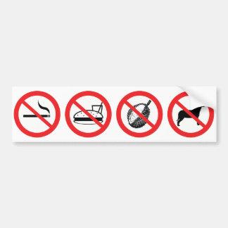 Reglas del paseo pegatina para auto