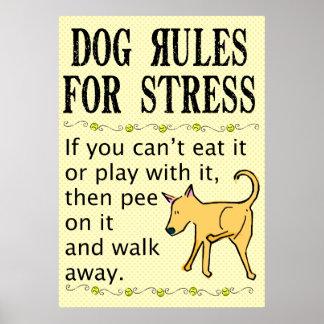 Reglas del perro para el poster de la tensión