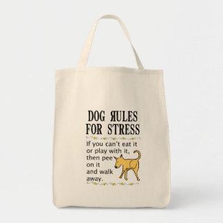 Reglas del perro para la tensión bolsa tela para la compra