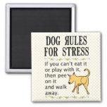 Reglas del perro para la tensión imán de nevera