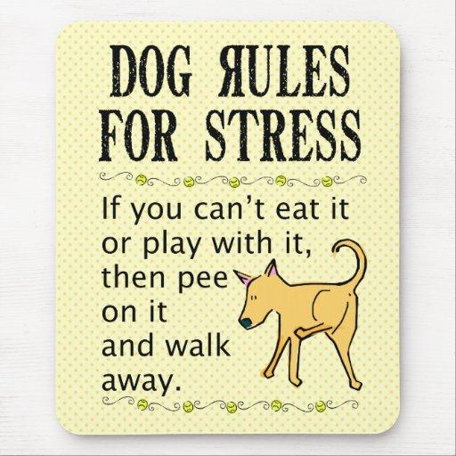 Reglas del perro para la tensión mouse pads
