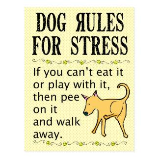 Reglas del perro para la tensión postales