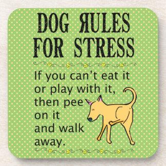 Reglas del perro para ocuparse de la tensión posavasos de bebida
