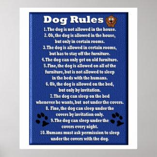 Reglas del perro - poster