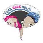 Reglas del punk rock decoración de tarta
